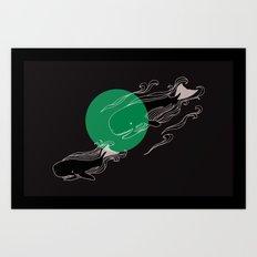 Finger Whales Art Print