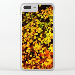 Autumn Beech Leaves Clear iPhone Case