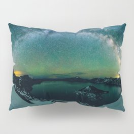 Galactic Rainbow over Crater Lake Pillow Sham