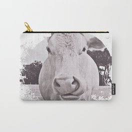 Vintage Bovine Carry-All Pouch