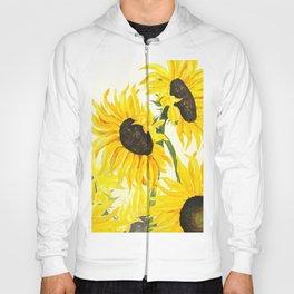 sunflower watercolor 2017 Hoody