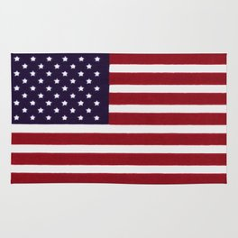 American flag with painterly treatment Rug