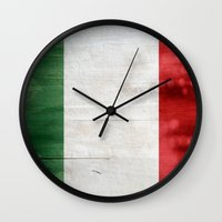 italy Wall Clocks featuring Italy by Arken25