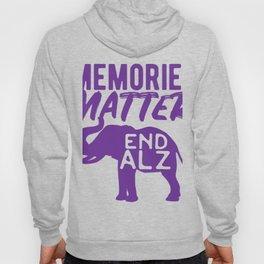 Memories Matter, Alzheimer's Awareness Tee, Purple Elephant Hoody