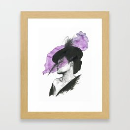 Billie Holiday Portrait Framed Art Print