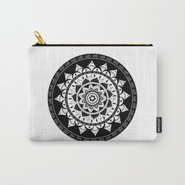 Black and White Mandala 2 Carry-All Pouch