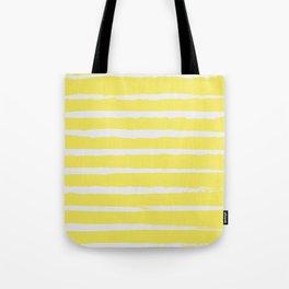 Irregular Stripes Yellow Tote Bag