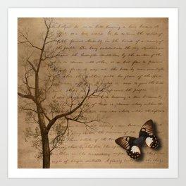 The Butterfly II Art Print