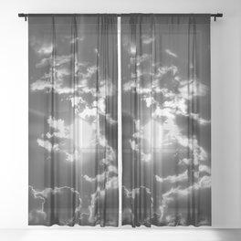 Dreamweaver - Black And White Sheer Curtain
