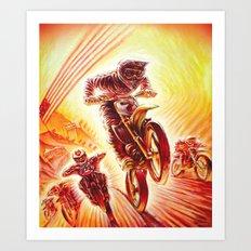 Motocross 7 Art Print