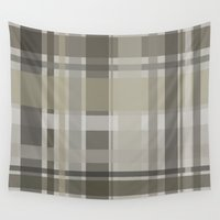 plaid Wall Tapestries featuring Plaid by GoAti