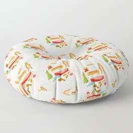 Morrison Lake Canadian Cottage Pattern Floor Pillow