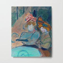 Two Women in a Street Cafe by Marianne von Werefkin Metal Print