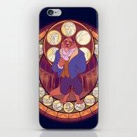 beast iPhone & iPod Skins featuring Beast by NicoleGrahamART
