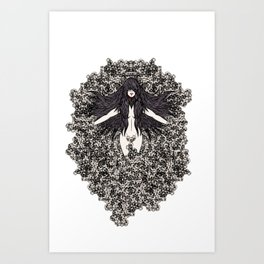 A Lady and her Skulls (Please give feedback) Art Print