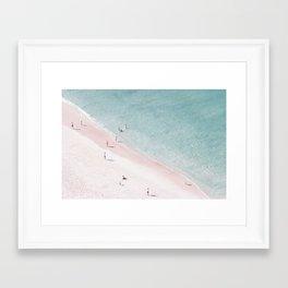 beach family love Framed Art Print