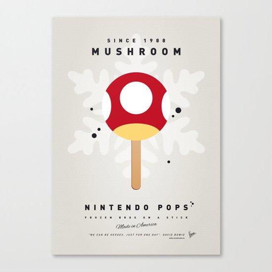 My NINTENDO ICE POP - Mushroom Canvas Print