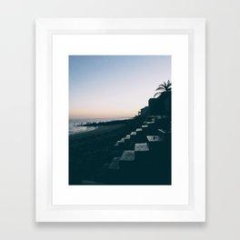 Sun Set Silhouette Framed Art Print
