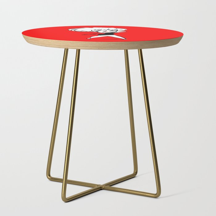 Madonna__Whos_that_Girl__Pop_Art_Side_Table_by_William_Cuccio_aka_WCSmack__Gold__Round
