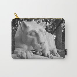 Penn State University Nittany Lion Statue Black White Side Carry-All Pouch