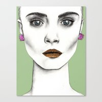 cara Canvas Prints featuring Cara by Vicky Ink.