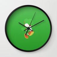 yoshi Wall Clocks featuring Yoshi! by Tom Oxnam
