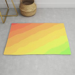 Happy Colorful Rainbow Stripes Rug
