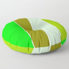 just four colors 1: green Floor Pillow