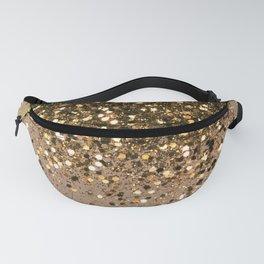 Sparkling Gold Brown Glitter Glam #1 (Faux Glitter) #shiny #decor #art #society6 Fanny Pack