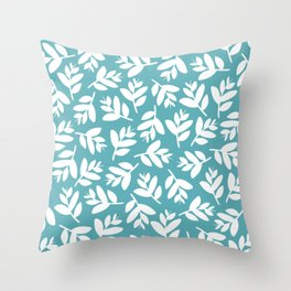 Sprigs | lagoon blue Throw Pillow