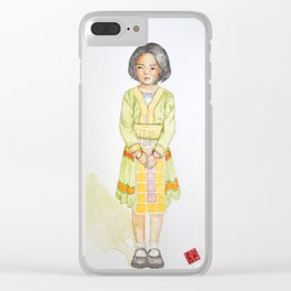 Hmong girl at Ban tung sai school in Thailand Clear iPhone Case