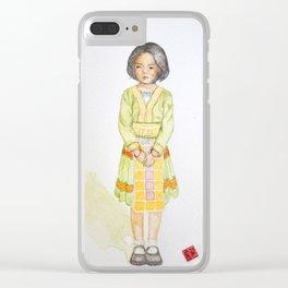 Hmong girl at Ban tung sai school in Thailand Clear iPhone Case