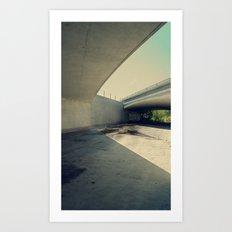 Blue Bridge Art Print