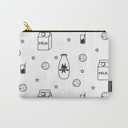 Doodle milk star cookies pattern Carry-All Pouch