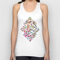 confetti Tank Tops featuring Confetti by FRAXTURED