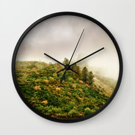Autumn valley in the cloud Wall Clock