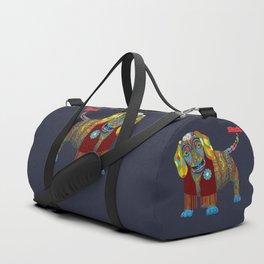 Yellow Mellow Dachshund Duffle Bag