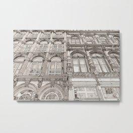 Facades - line art Metal Print