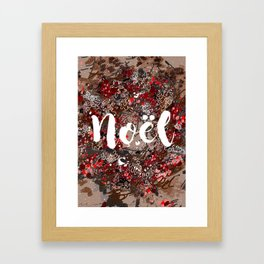 Couronne de Noël Framed Art Print