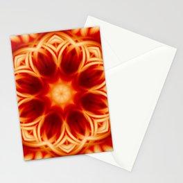 Fire Lotus Mandala Stationery Cards
