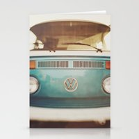 volkswagen Stationery Cards featuring Volkswagen Bus by Briole Photography