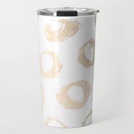 Luxe Gold City Dot Circles Travel Mug