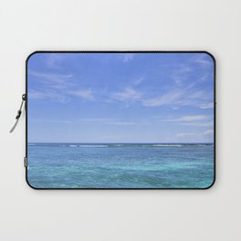 Whispy Clouds and Whitecaps - Tropical Horizons Series Laptop Sleeve
