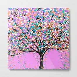Trees Pink Metal Print