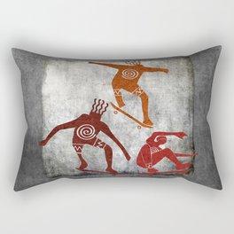 Skateboard Petroglyph Rectangular Pillow