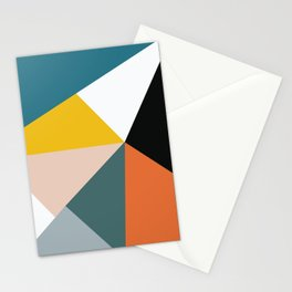 Triangles abstract colorful art Stationery Cards