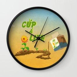 Cup á life Wall Clock