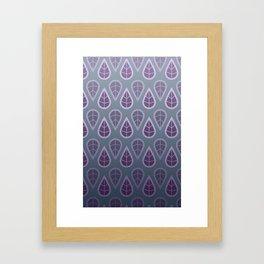 leafy pattern purple Framed Art Print