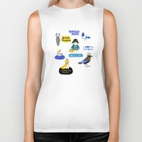 london map Biker Tanks featuring LOndOn Map by Hui_Yuan-Chang