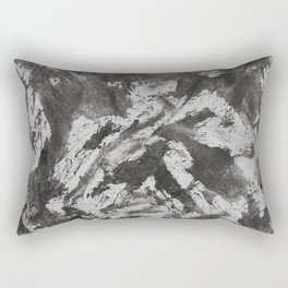Black Ink on White Background #3 Rectangular Pillow